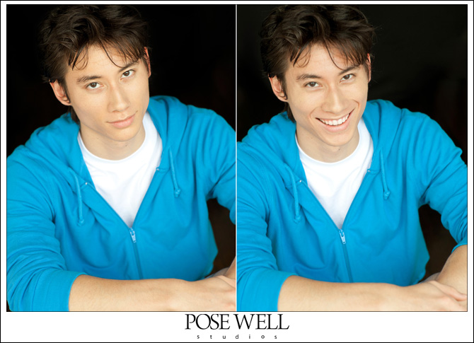 Headshots and comp card shots for Chris by Agnes Lopez for Pose Well Studios