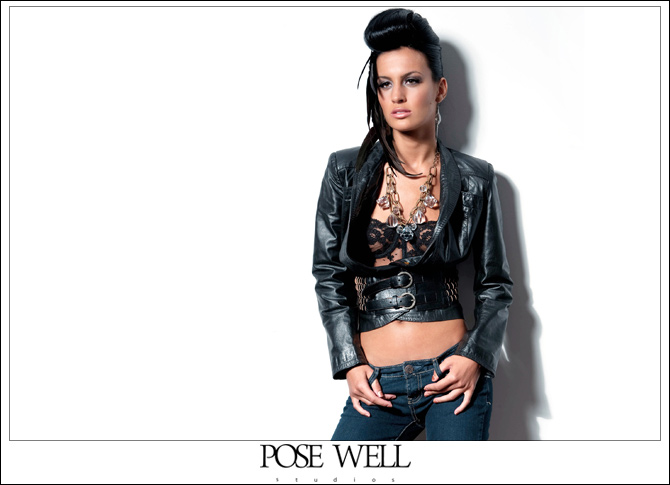 Model Shoot - Arica by Agnes Lopez for Posewell Studios