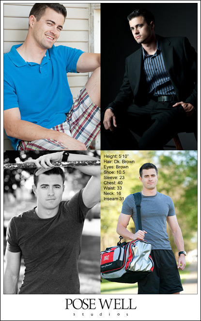 Comp Cards and Headshots in May by Jacksonville Photographer Agnes Lopez for POSE WELL Studios
