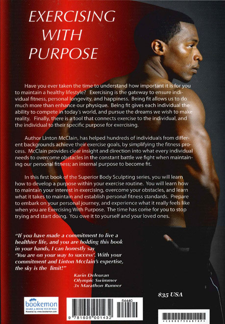 Linton McClain's book cover - Exercising With Purpose - by Agnes Lopez