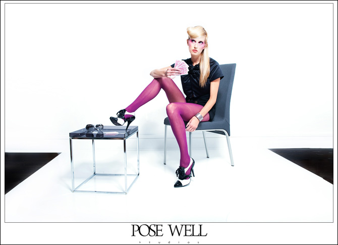 Model shoot with Aerin by Agnes Lopez for POSE WELL Studios