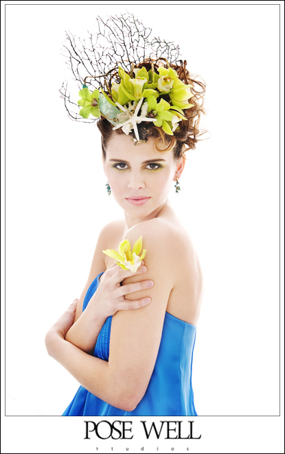 Custom headpiece shoot by Agnes Lopez for POSE WELL Studios