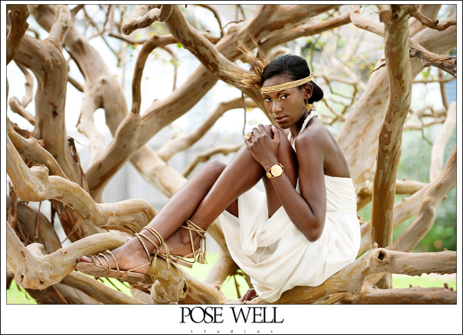 Model shoot with Virgo by Agnes Lopez for POSE WELL Studios