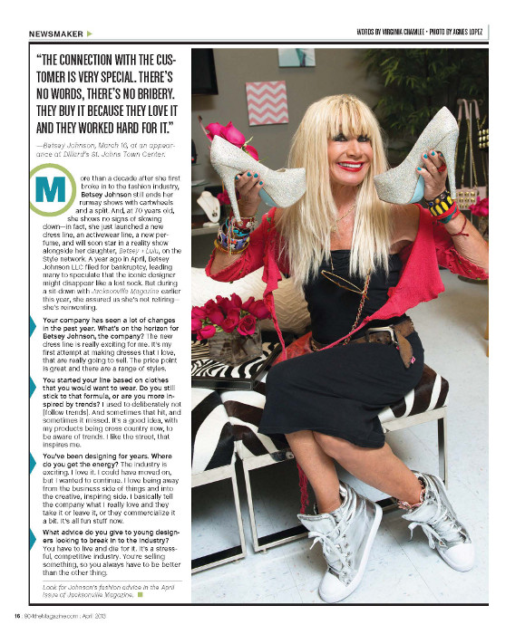 Betsey Johnson photographed by Agnes Lopez for 904 Magazine