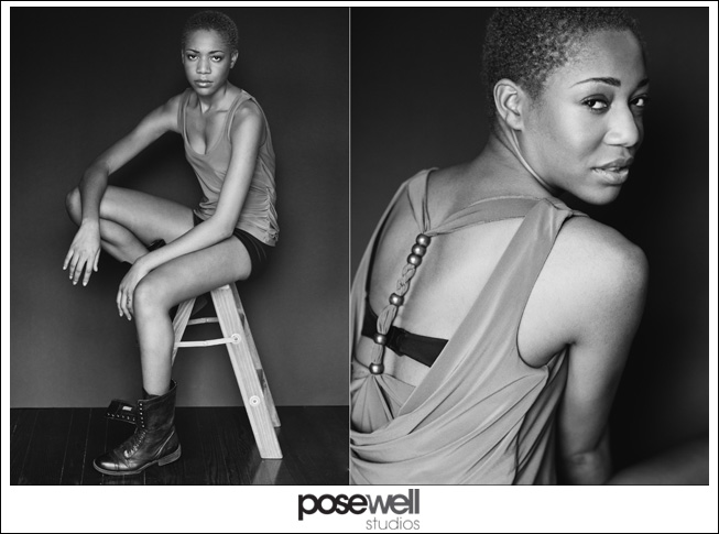Comp card shoot for Jazzmin by POSE WELL Studios - image 1 of 3