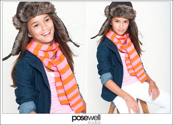 Comp card shoot with child model Emily by Agnes Lopez for POSE WELL Studios Jacksonville FL