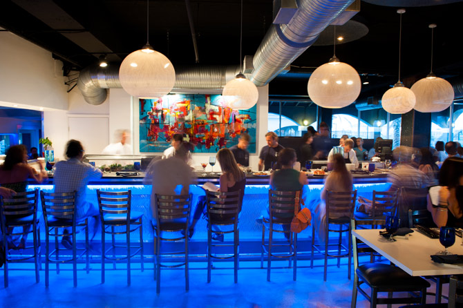 Photo of the sushi bar at Sakana in Jacksonville Beach by Agnes Lopez