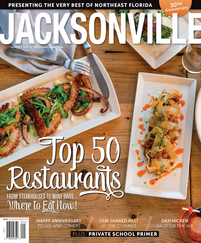 Jacksonville Magazine - January 2014 cover by Agnes Lopez