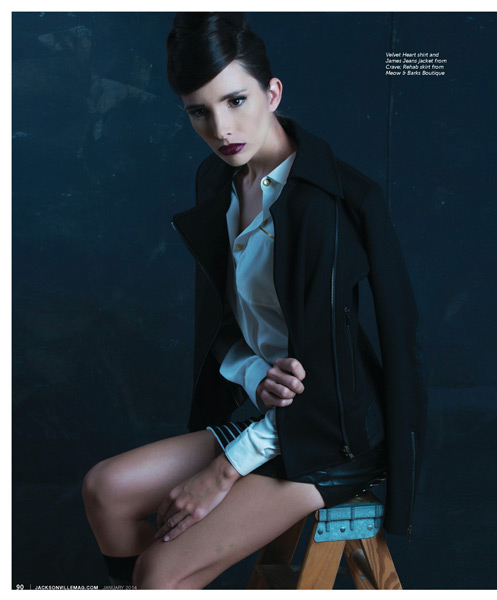 In With the Bold fashion editorial for Jacksonville Magazine January 2014 by Agnes Lopez