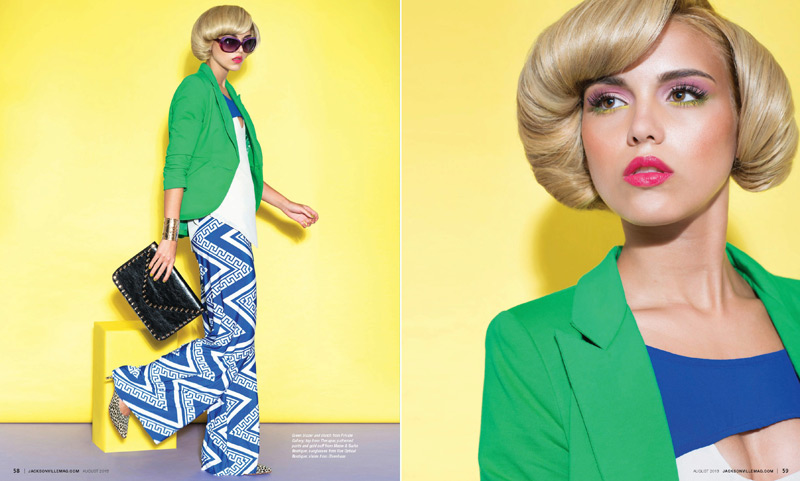 Bright Ideas fashion editorial by Agnes Lopez for Jacksonville Magazine - August 2013