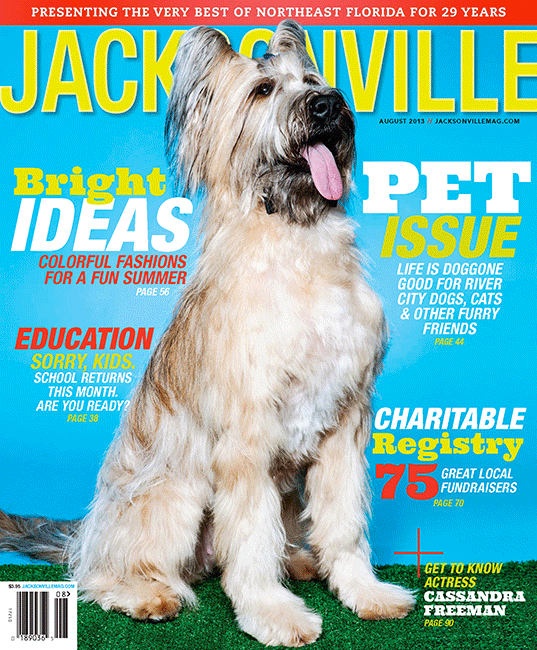 Jacksonville Magazine August 2013 cover by Agnes Lopez