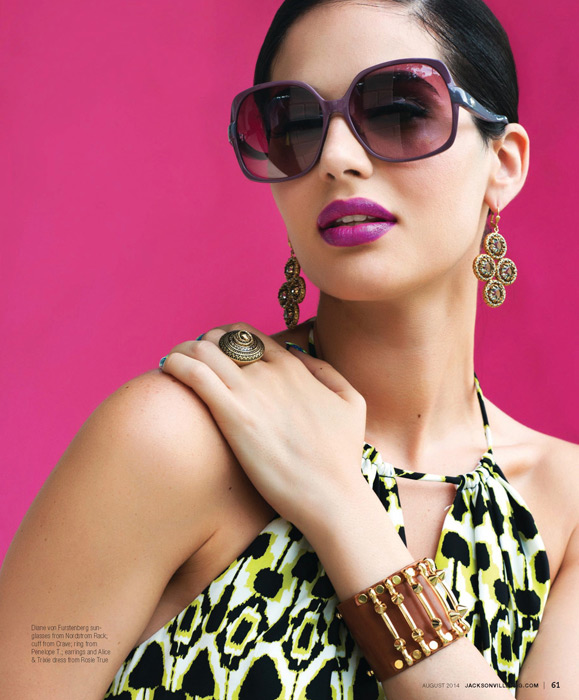 Block Party fashion editorial by Agnes Lopez for the 2014 August issue of Jacksonville Magazine