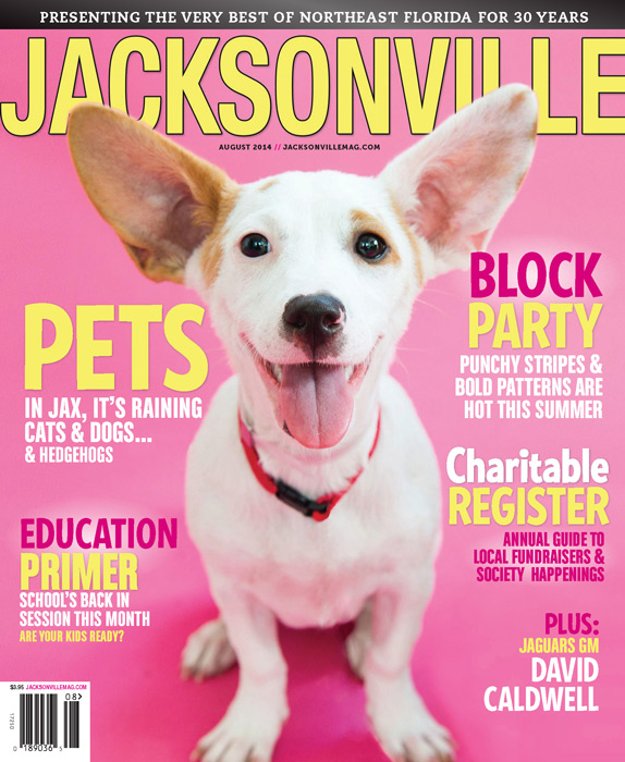 August 2014 Jacksonville Magazine cover by Agnes Lopez