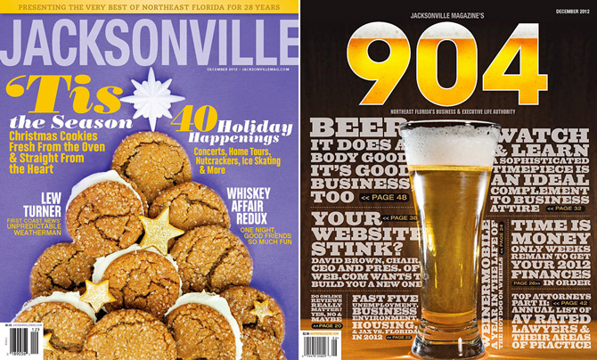 Cover of December issue of Jacksonville Magazine and 904 Magazine by Agnes Lopez