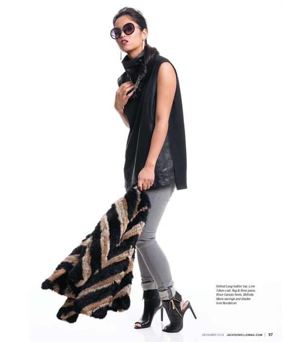 Modern Cool fashion editorial for the December 2014 issue of Jacksonville Magazine - photos by Agnes Lopez - page 4