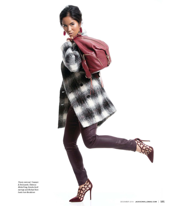 Modern Cool fashion editorial for the December 2014 issue of Jacksonville Magazine - photos by Agnes Lopez - page 8