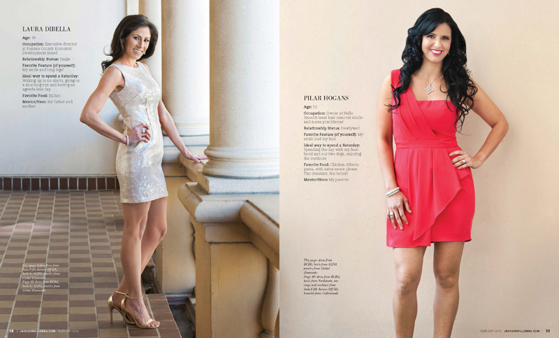 Jacksonville Magazine Beautiful Women shoot 2015 - Page 11-12