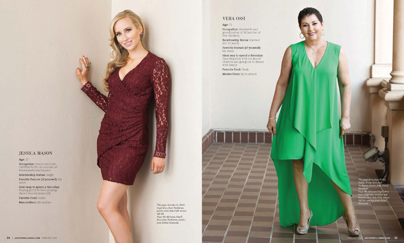 Jacksonville Magazine Beautiful Women shoot 2015 - Page 7-8