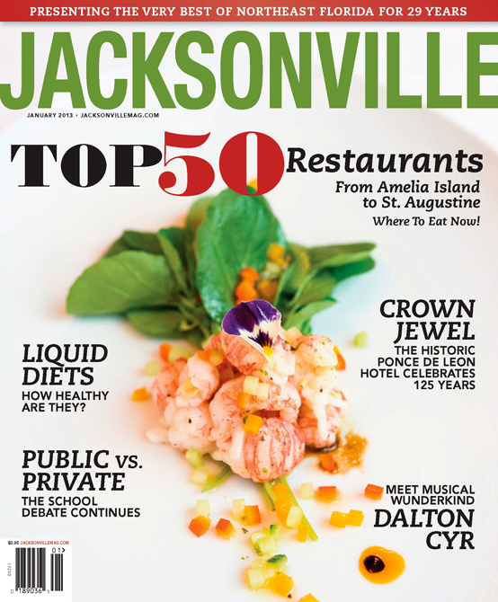 Cover of Jacksonville Magazine, January 2013 by Agnes Lopez