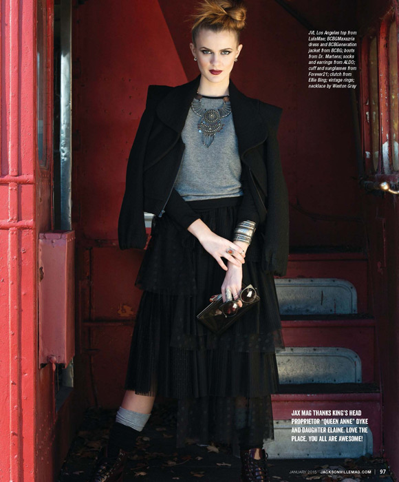British Invasion fashion editorial for the January 2015 issue of Jacksonville Magazine - photos by Agnes Lopez - page 7