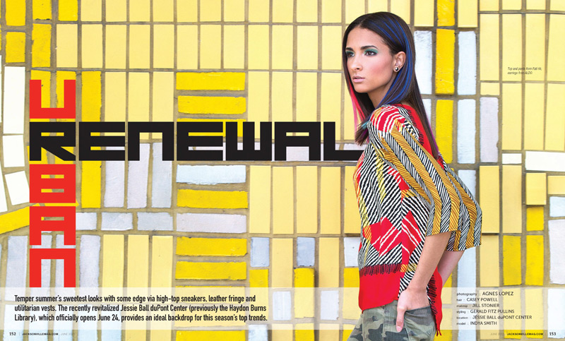 Urban Renewal fashion editorial for Jacksonville Magazine - June 2015 issue by Agnes Lopez