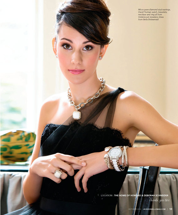 October Jewelry editorial for Jacksonville Magazine by Agnes Lopez