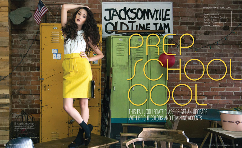 Prep School Cool fashion editorial for Jacksonville Magazine - October 2013 by Agnes Lopez