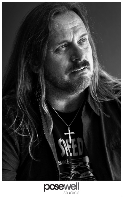 Black and White portrait of Johnny Van Zant