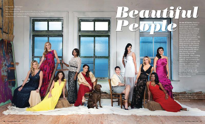 Jacksonville Magazine Beautiful Women shoot 2015 - Page 1-2