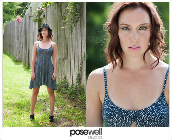 Comp Card shoot of Lauren by Agnes Lopez for Pose Well Studios