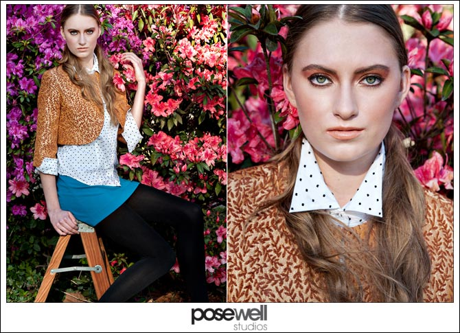 Female model Lizzy comp card shoot by POSE WELL Studios