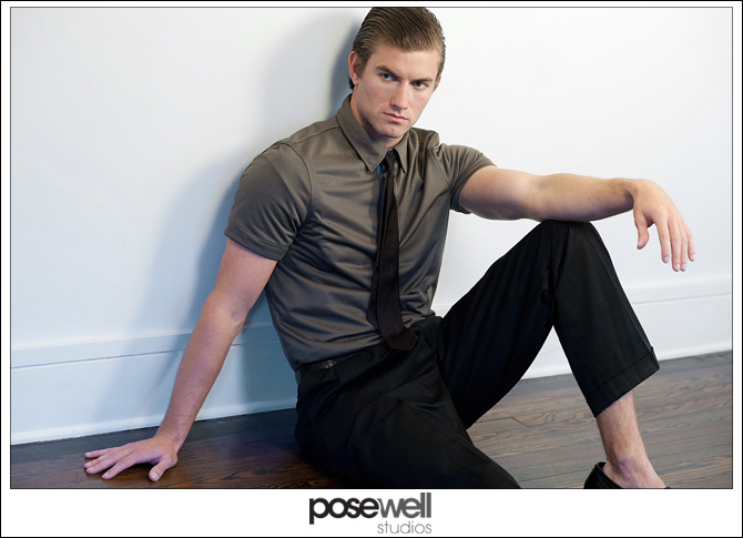 Male model comp card shoot by POSE WELL Studios