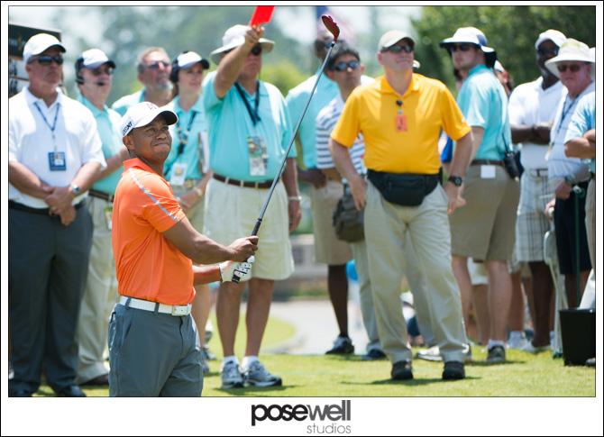 Tiger Woods teeing off at The Players Championship by Agnes Lopez