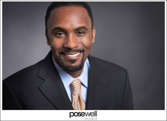 Rollins Burks headshot by Agnes Lopez for Pose Well Studios
