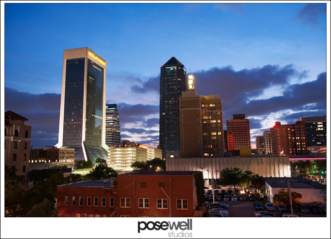 View of Downtown Jacksonville from the Yates parking garage