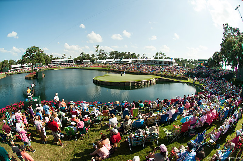 Picture of the 17th green on Sunday at TPC Sawgrass from THE PLAYERS 2013 by Agnes Lopez