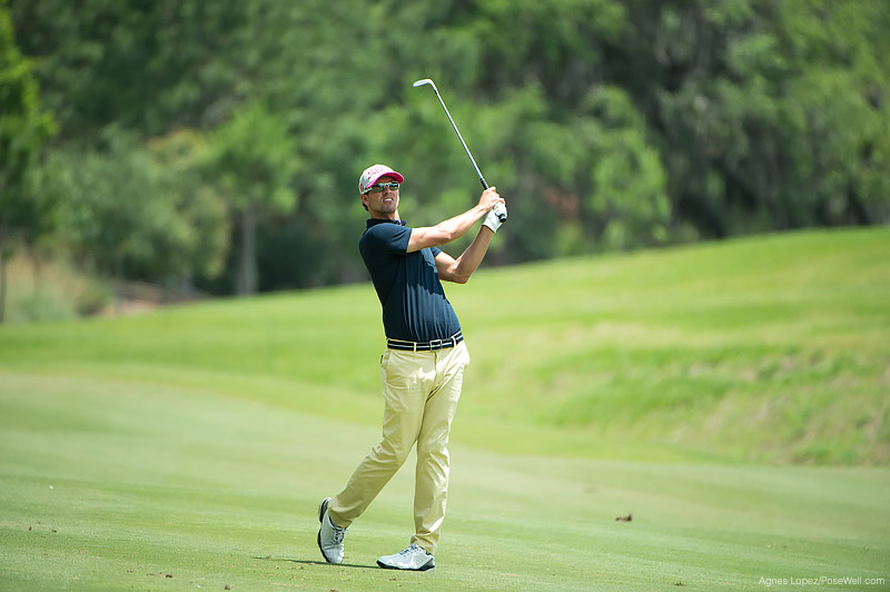 Adam Scott hitting a shot at TPC Sawgrass from THE PLAYERS 2013 by Agnes Lopez