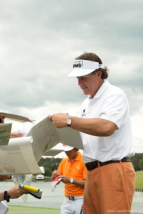 Masters Champion Phil Mickelson at TPC Sawgrass from THE PLAYERS 2013 by Agnes Lopez