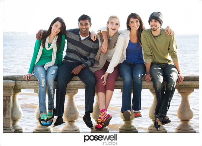 Picture of young people enjoying their V-Toe socks by Agnes Lopez for Pose Well Studios