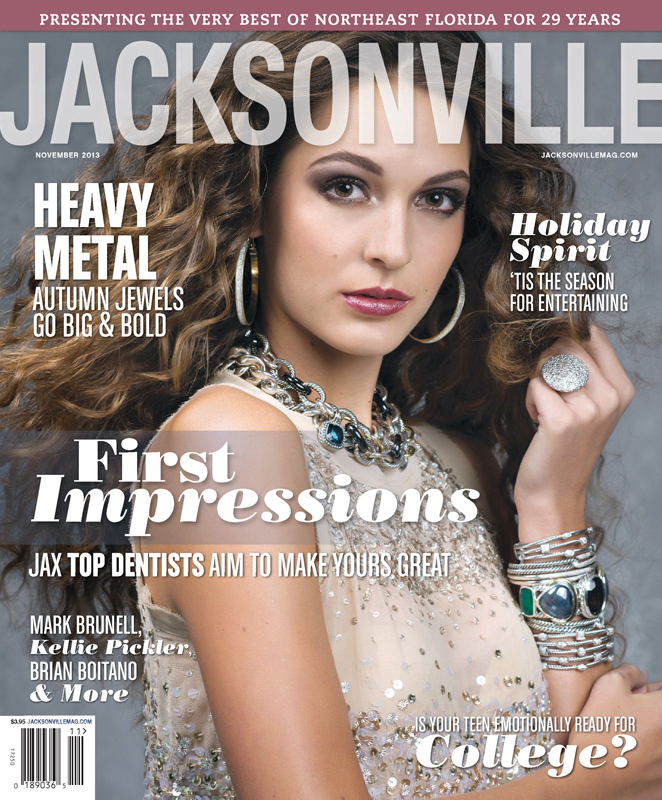 Jacksonville Magazine - November 2013 cover by Agnes Lopez