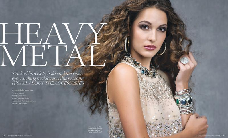 Heavy Metal Jewelry Editorial For Jacksonville Magazine
