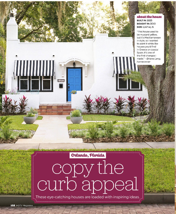 HGTV Magazine - Copy the Curb Appeal - Orlando by Agnes Lopez